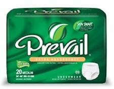 Prevail Extra Absorbency Underwear MEDIUM Adult Diapers 20 Count New Briefs