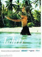 PUBLICITE ADVERTISING 116  2006   Air France  Air Tahiti Nui compagnie aérie