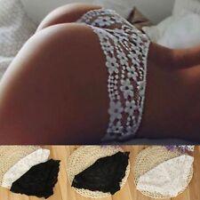 Women Sexy Lace Briefs Lingerie Knickers G-string Thongs Panties Underwear EL