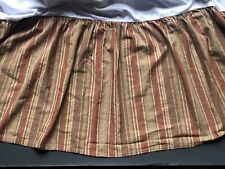 RALPH LAUREN Northern Cape *KING Stripe BEDSKIRT Dust Ruffle LOTS LISTED Red Tan