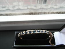 Q69 Ladies 9ct gold high quality Ceylon Sapphire and Diamond bangle bracelet