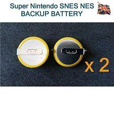 2 x CR2032 Batterie con saldatura tabsfor SUPER NINTENDO SNES NES GIOCHI MEGADRIVE
