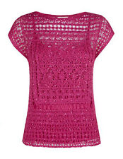 MONSOON Yasmina Machine Crochet TopWith Camisole BNWT