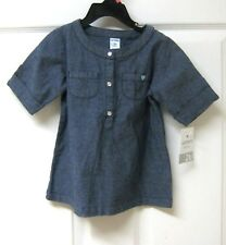 NWT Carters Toddler SHORT SLEEVE DRESS Size 2T 100% Cotton Blue Heart Top Girl