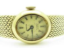 14k Yellow Gold Ermaten 17 Jewels Incabloc Vintage Estate Watch Excellent Cond.