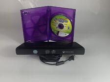 Microsoft Xbox 360 Kinect Sensor Bar + Game - WORKS!
