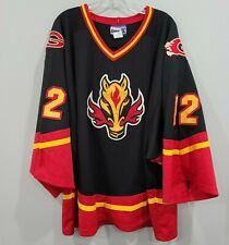 Rare Vtg Kobe Calgary Flames Hall 12 Blasty Black Hockey Jersey Men Xl
