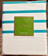 "Kate Spade New York Harbour Stripe Aqua Green Fabric Shower Curtain 72""x72"""