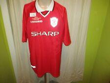 "Manchester United umbro Champions League Sieger Trikot 1999 ""SHARP"" Gr.XXL TOP"
