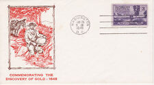POSTAL HISTORY FIRST DAY/EVENT COVER 1948 CALIFORNIA GOLD HOKE CACHET 2ND DAY #2