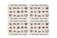 4 PLACEMATS HEAT RESISTANT WIPE CLEAN LAMINATE SURFACE TEA TIME BY LEONARDO