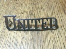 VINTAGE UNITED BUS   BADGE