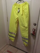 LaCrosse Typhoon Reflective Green Hi Vis Pants Size large NEW with Tags