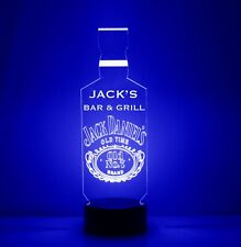 Personalized Jack Daniels Logo Bar Sign Mancave LED Remote Control