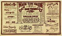 1980 Vintage Large Dinner Menu MAGIC TIME MACHINE Restaurant San Antonio Texas