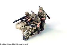 28MM GERMAN MOTORCYCLE R75 WITH SIDECAR NORTH AFRICAN CAMPAIGN - RUBICON - WW2
