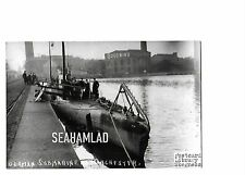 Manchester, German Submarine RP Skegness Library Postcard