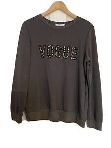 Womens Vogue Slogan Jumper Size: M/L