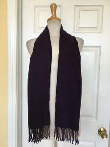 AMICALE purple 100% pure cashmere scarf