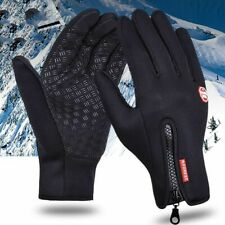 Unisex Outdoor Sport Waterproof Gloves for Winter Bike Ski with Touch and Zipper