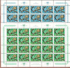 United Nations Scott #NY 278-79/Geneva 61-62 1976 Mint Sheets