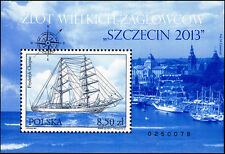 """Polska Poland 2013 Fi BLOK 220 Mi BLOCK 219 MNH Zlot Wielkich Żaglowców """"Szczeci"""