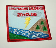 Vintage 1993 Girl Boy Scouts  Pancake Breakfast Cloth Patch Sale NOS New Scout