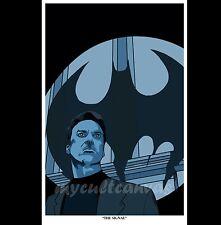 Original Batman Returns Art Print Poster Batcave Joker Bat Signal figure blu