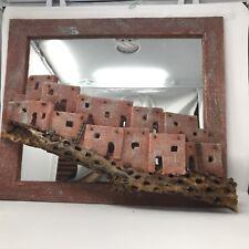 Charlie Watkins Pueblo Indian Architecture 3-D Art & Mirror
