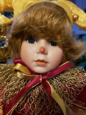 """SEYMOUR MANN CONNOISSEUR COLLECTION DOLL """"JESTER"""" EUC IN BOX"""