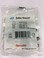 "John Guest PI 251210S tube to hose stem, 3/8"" stemOD, 5/16"" hose ID (bags of 10)"