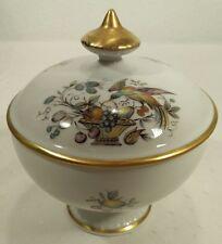 Limoges France Bird Paradise Fruit Basket Footed Sugar/Salt/Trinket Dish/Bowl