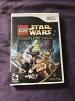 Lego Star Wars The Complete Saga Nintendo Wii COMPLETE (LucasArts, 2007) TESTED