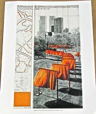 Christo & Jean-Claude  The Gates of Central Park Project Poster 5 14x11