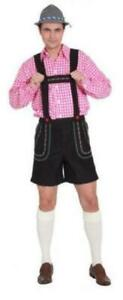 Sepplhose Kniebundhose Hose Bayern Tiroler Seppl Trachten Oktoberfest Kostüm Hut