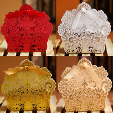 25-100 PCS Luxury Wedding Favour Favor Sweet Cake Gift Candy Boxes Party Deco