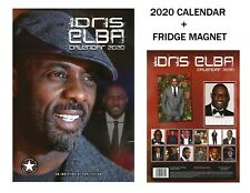 IDRIS ELBA CALENDAR 2020 + IDRIS ELBA FRIDGE MAGNET