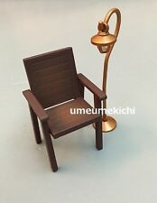 Megahouse dollhouse miniature garden chair lamp 2004