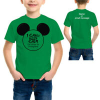 Can't Keep calm going to Disney world Florida T Shirt Tee Boys Kids Children