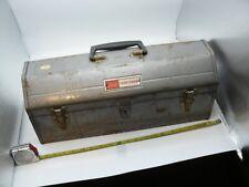 Vintage 1970 Sears/Craftsman Model 6520 Dual-Latch Hip Roof Heavy Gauge Tool Box