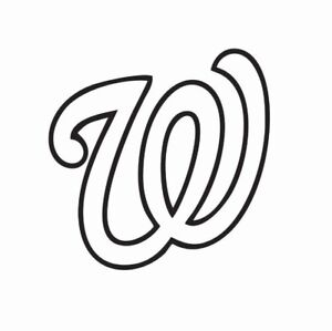 Washington Nationals MLB Baseball Vinyl Die Cut Car Decal Sticker-FREE SHIPPING