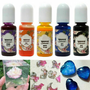 13 Bottles 10g Epoxy UV Resin Coloring Dye Colorant Pigment Mix Color DIY  @vt
