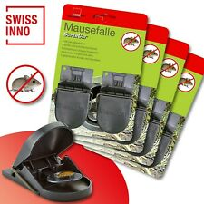 4 x 2 Stück Swissinno SuperCat Mausefalle Schlagfalle