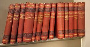 Charles Dickens 13 Edition Set Chapman & Hall Hardback Books 1890