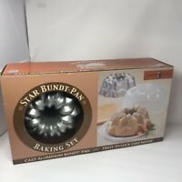 Nordic Ware Star Bundt & Cake keeper Set in Box  Cast Aluminum