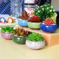 Miniature Flower Bonsai Pot Mini Succulent Planter Glazed Ceramic Garden Decor