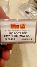 MTL Micro Trains Micro Mouse Holiday Car 2012 Box Car 10100720