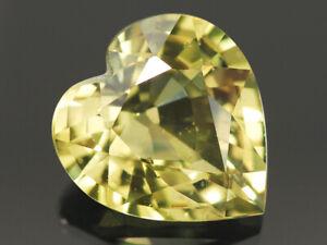 NATURAL MINE - UNHEATED HEART GREENISH YELLOW SAPPHIRE 0.89 CT.