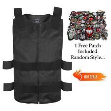 Genuine Leather New Men's Bullet Proof Biker Vest Size S to XXL Black FREE PATCH