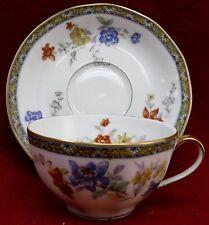 "HAVILAND Limoges china GANGA pattern Cup & Saucer  3-5/8"" diameter cup"